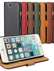 Недорогие -Кора зерна натуральной кожи всего тела крышка с подставкой и чехол для Iphone 6