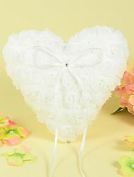 сердце кольцо подушки в атлас с дизайном розы