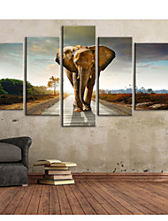 cheap -Stretched Canvas Print Canvas Set Animals Vertical Print Wall Decor Home Decoration