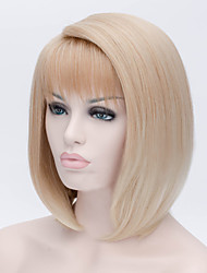 cheap -European and American Popular Wigs Gold Gradient BOBO Short Straight Hair Wig 12inch