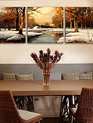 e-Home® tela sei neve foresta set pittura decorativa di 3