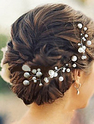 cheap -Pearl Headwear Hair Pin with Floral 1pc Wedding Special Occasion Casual Headpiece
