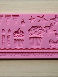 Недорогие -мода силиконовые торт кружева помады шоколад отделочных работ коврик плесень кухня посуда выпечка для приготовления пищи (случайный цвет)