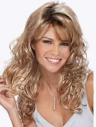 Недорогие -Парики из искусственных волос Блондинка Блондинка Парик Жен. Длинные Клубничный блондин