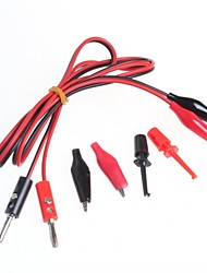 cheap -Banana Plugs Turn Alligator Clip Wire Test Line + Test Hook