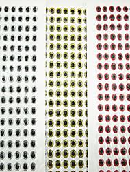 Недорогие -500 штук Мягкие приманки Рыболовная приманка Мягкие приманки Серебро красный Золотой и черный г/Унция мм дюймовый,ПолиэстерМорское