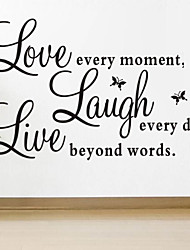 Wall Stickers Wall Decals, Style Live Love The Butterfly Proverbs PVC Wall Stickers