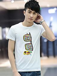Недорогие -hitor мужские случайные вокруг шеи короткий рукав регулярные футболки