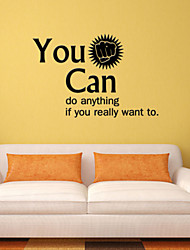 Inspirational Quote Vinyl Wall Decal Sticker You Can Do Anything Home Decor