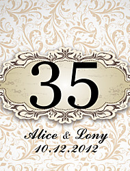 cheap -Personalized Square Table Number Card- Pattern (Set of 10)