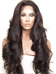abordables -onda brasileña del cuerpo del pelo humano pelucas baratas del pelo humano peluca llena del cordón del color negro de densidad 130