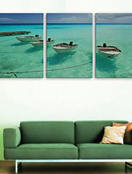 e-Home® tela sei il mare nave set pittura decorativa di 3