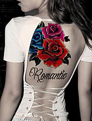 preiswerte -- Tattoo Aufkleber - Non Toxic/Stamm/Unterer Rückenbereich/Waterproof - Blumen Serie - für Damen/Herren/Erwachsener/Teen - Rot/Mehrfarbig