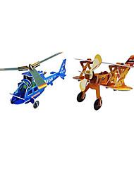 Недорогие -3d вертолет и самолет истребитель головоломки (2 самолета)
