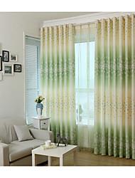 Paese curtains® un pannello della tenda stampa floreale verde