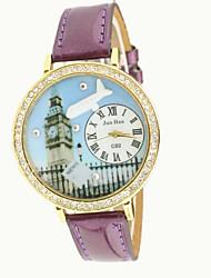 baratos -Mulheres Relógio de Moda / Simulado Diamante Relógio imitação de diamante PU Banda Amuleto