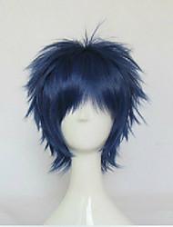 abordables -Perruque Synthétique Droit Cheveux Synthétiques Bleu Perruque Femme Court Bleu hairjoy