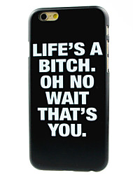 cheap -Life Is A Bitch Pattern Hard Case for iPhone 7 7 Plus 6s 6 Plus
