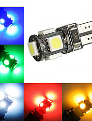cheap -2W T10 Decoration Light 5 SMD 5050 120-150 lm Cold White Red Blue Yellow Green K Decorative DC 12 V