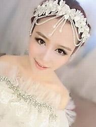 cheap -Women's Lace Imitation Pearl Acrylic Silk Headpiece-Wedding Special Occasion Head Chain 1 Piece