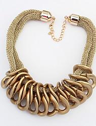 baratos -Mulheres Colares com Pendentes  -  Fashion Europeu Dourado Preto Colar Para