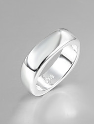 cheap -Fashion Luxury Simple Square Sterling Silver Band Ring For Women