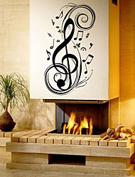 cheap -Music Fashion Shapes Wall Stickers Plane Wall Stickers Decorative Wall Stickers Material Removable Home Decoration Wall Decal
