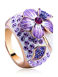 cheap -Women's Crystal Statement Ring - Alloy Luxury, Fashion One Size For Party