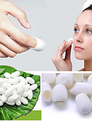 90pcs/lot Fresh Natural Silkworm Cocoons Facial Cleanser Skin Care