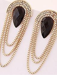 Серьги-слезки Резина Сплав Заявление ювелирные изделия Мода Свисающие Золотой Бижутерия 2 шт.