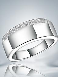 Классические кольца Стерлинговое серебро Циркон Цирконий Мода Заявление ювелирные изделия Серебряный Бижутерия Для вечеринок 1шт
