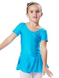 abordables -Danse classique Robes et Jupes Tutus & Jupes Robes Enfant Spectacle Entraînement Elasthanne 1 Pièce Manche courte Princesse Robe