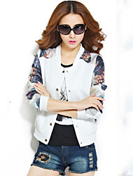 cheap -Women's Blue/White/Black/Green Jackets , Casual Long Sleeve