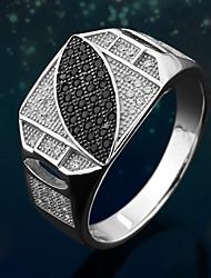 preiswerte -Ringe Herren Kubikzirkonia Silber Silber 9 / 10 / 11 / 12 Silber Die Farben der Stickereien sind wie im Bild dargestellt.