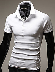 cheap -Men's Casual / Daily T-shirt - Solid Colored