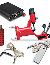 Kit de tatouage complet 1 x Machine à tatouer rotative pour le traçage et l'ombrage 1 Machines de tatouage Mini source d'alimentation
