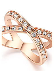 preiswerte -Damen Kristall Ring - Diamantimitate Simple Style, Geburtssteine Silber / Golden Für Alltag