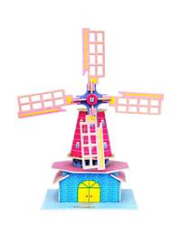 Недорогие -DIY Голландская мельница форме 3d головоломки