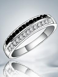Недорогие -Классические кольца Стерлинговое серебро Цирконий Имитация Алмазный Мода Заявление ювелирные изделия Черно-белый Бижутерия Для вечеринок