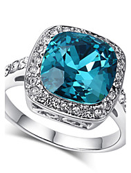 cheap -Women's Crystal Imitation Diamond Statement Ring - Blue Ring For Wedding / Party / Daily