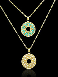 Pendenti Metallo / Perla Circle Shape come immagine 1
