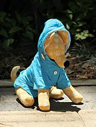 levne -Pes Pláštěnka Oblečení pro psy Jednobarevné Oranžová Růžová Modrá Nylon Kostým Pro domácí mazlíčky Voděodolný