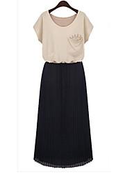 billige -Dame Chic & Moderne Kjole - Ensfarvet, Moderne Stil