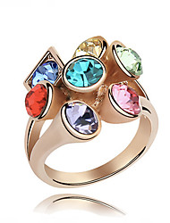 cheap -Vintage/Cute/Party Gold Plated/Alloy/Cubic Zirconia Multi Finger Ring