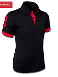 preiswerte -MANWAN WALK®Men's Embroidery Chest Logo Short Sleeve Slim Polo T-Shirt