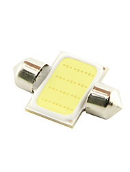cheap -31mm 3W COB LED 200lm 6000K Cold White Light Dome Festoon Reading Bulb Lamp for Car (DC 12V)