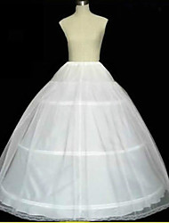 cheap -Slips A-Line Slip Ball Gown Slip Chapel Train Floor-length 2 Tulle Netting White