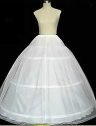 abordables -Déshabillés Robe trapèze Robe de soirée longue Chapelle Ras du Sol 2 Filet de tulle Blanc