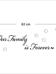 Our Family Is Forever Wall Decals Zooyoo8179 Decorative Adesivo De Parede Removable Vinyl Wall Stickers