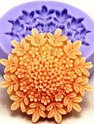 moldes de silicone bakeware flor de cozimento para o bolo fondant chocolate (cores aleatórias)